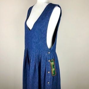 Vintage Midi Button Denim Dress Deadstock